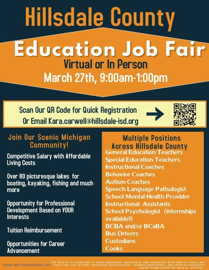 Hillsdale County Education Job Fair